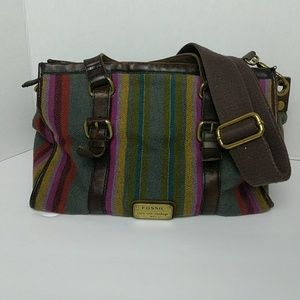 Fossil | Wool and Leather Crossbody Purse